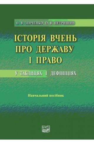 Історія вчень про державу і право у таблицях і дефініціях